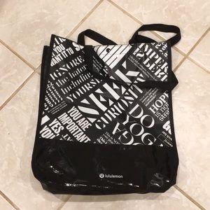 Lululemon shopping bag large